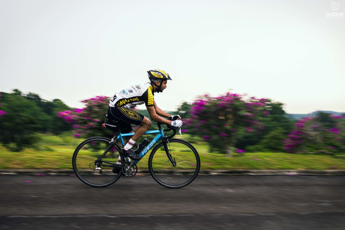 Cycling photography, panning, Mandai Road, Upper Selator Reservoir