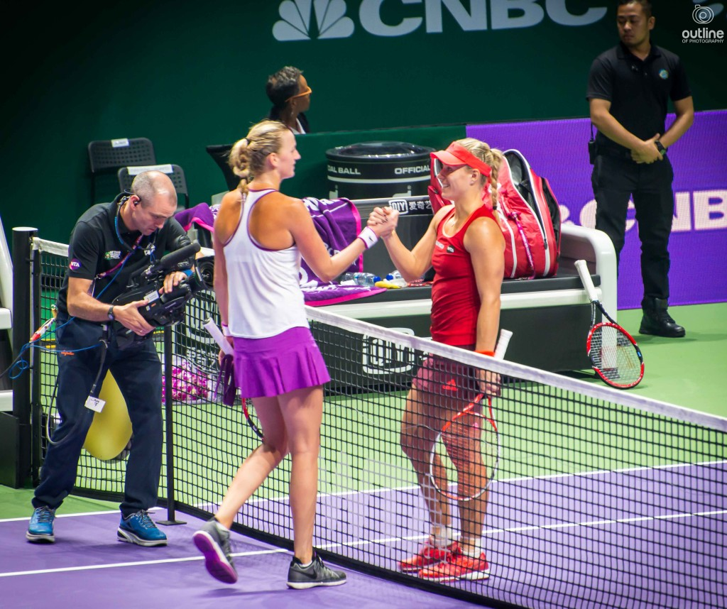 Petra Kvitová and Angelique Kerber, WTA finals, Singapore, 2015