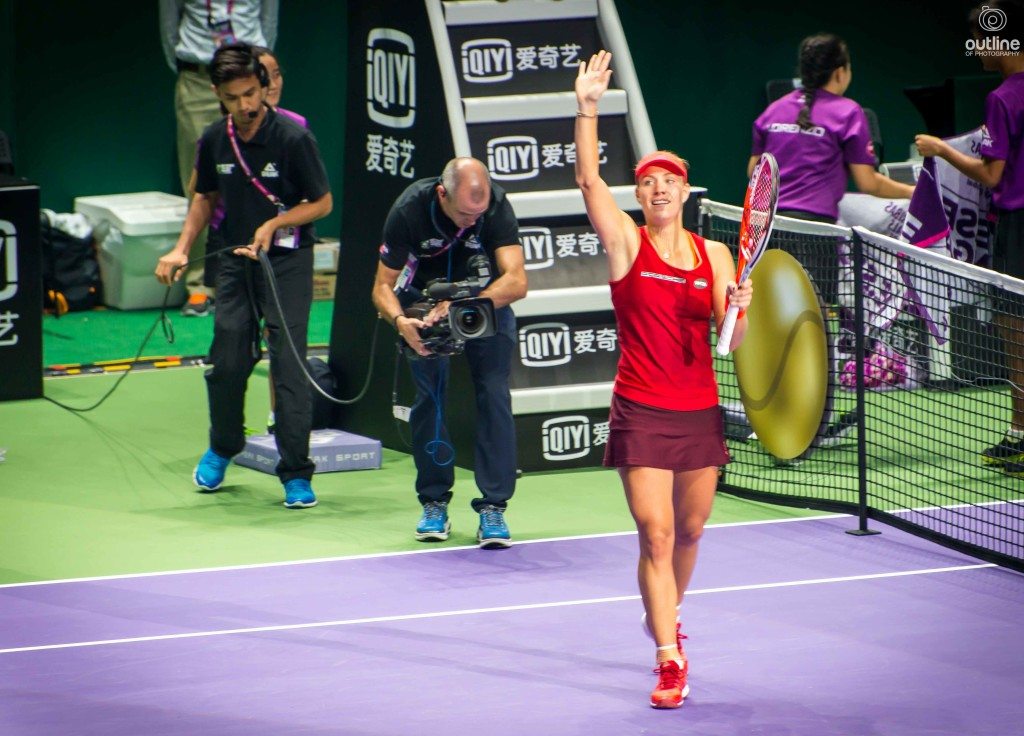 Angelique Kerber, after her win against Petra Kvitova, WTA finals, Singapore, 2015