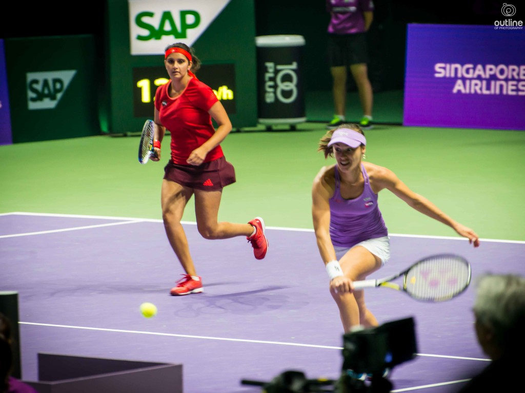 Sania Mirza and Martina Hingis, WTA Finals, Singapore, 2015